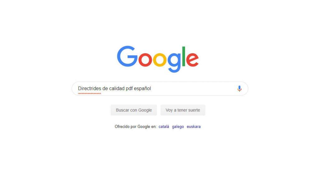 Guía de Google para evaluar la calidad de un sitio