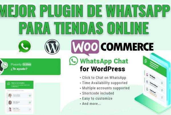 Mejor plugin para WhatsApp en Wordpress y woocommerce