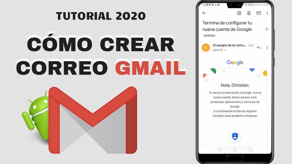 Cómo crear cuenta de correo Gmail