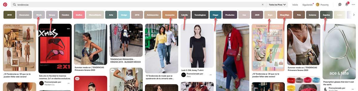 Nicho Tendencias en Pinterest