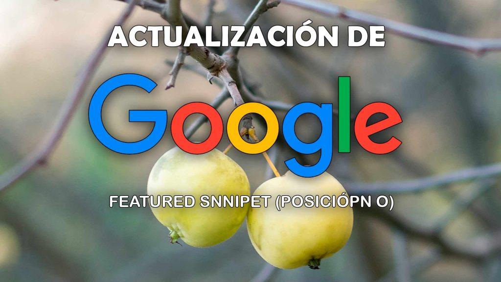 Actualización de Google Featured Snippet enero 2020