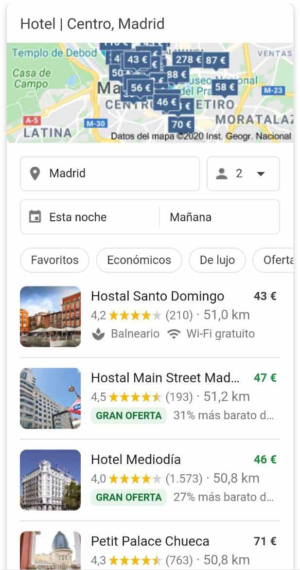 Pack para buscar hoteles