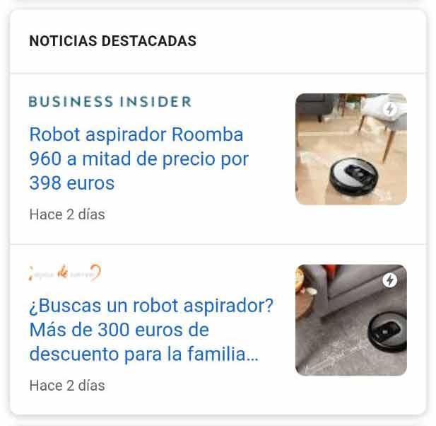 Snippet de noticias destacadas en formato lista + miniatura