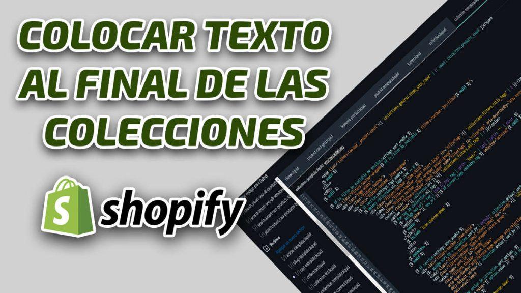 Cómo Colocar El Texto de las Colecciones de Shopify al final-web